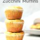 White Cheddar Zucchini Muffins Stacked