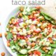 Chipotle Chickpea Taco Salad in Bowl