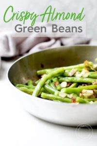 Green Beans Caramelized Onions and Almonds