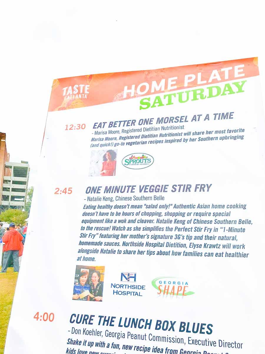 Taste of Atlanta Home Plate Demo with Marisa Moore, RDN