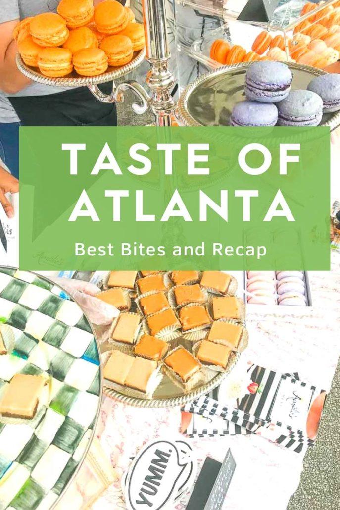 Taste of ATlanta Sample desserts