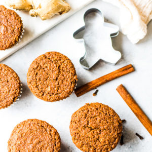 Vegan Flourless Gingerbread Muffins recipe