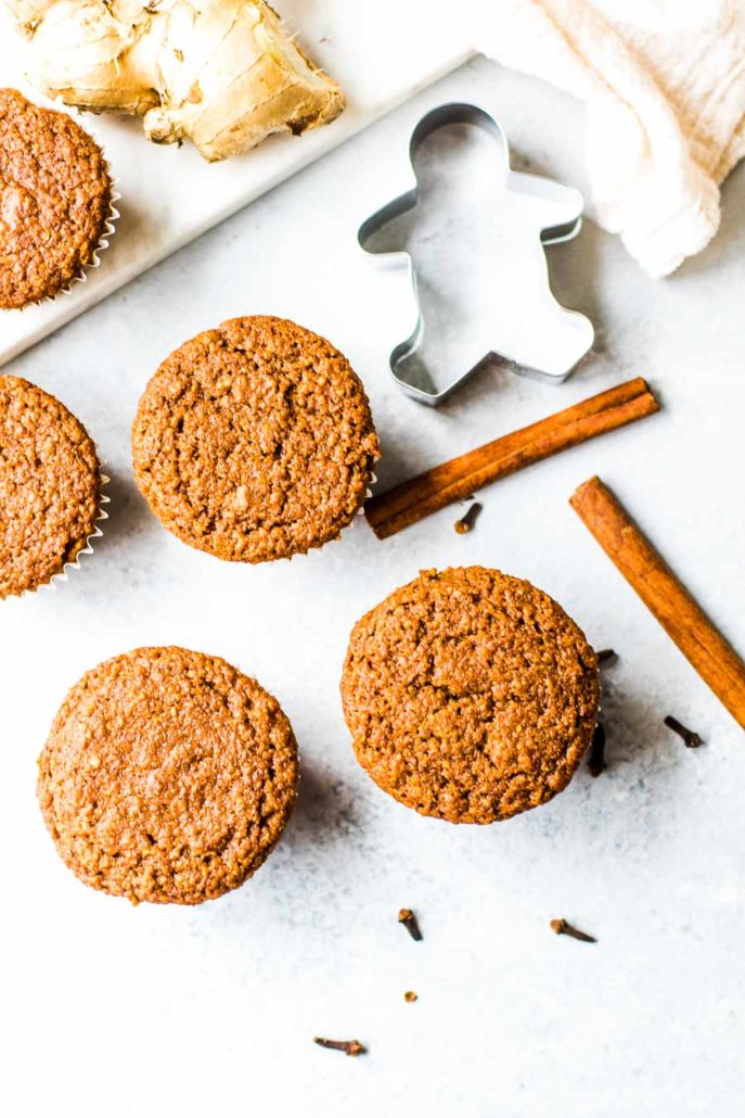 Gingerbread Muffins with gingerbread cutout