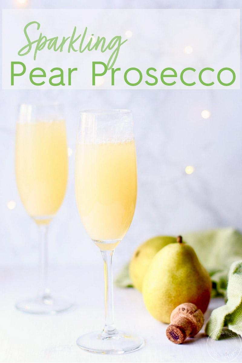 Pear Prosecco Pin Image