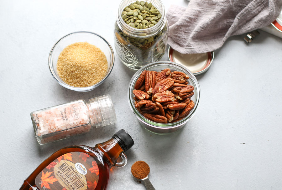 Sprouts ingredients for glazed pecans and pepitas