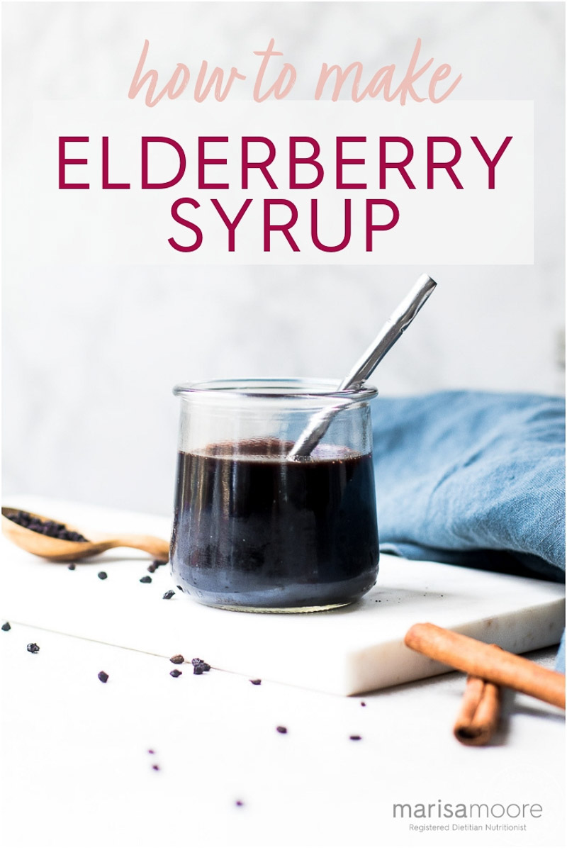 Learn how to make elderberry syrup at home with this step by step guide!  Find out the benefits of elderberry and how much to take! #elderberry #healthyrecipes #elderberrysyrup