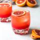 blood orange mocktail in glasses