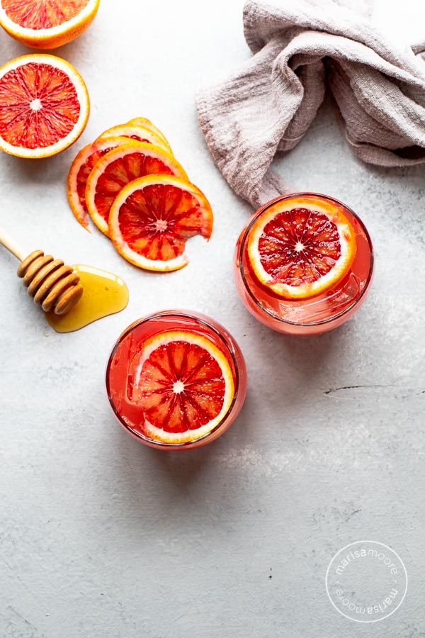 Blood Orange Mocktail Overhead