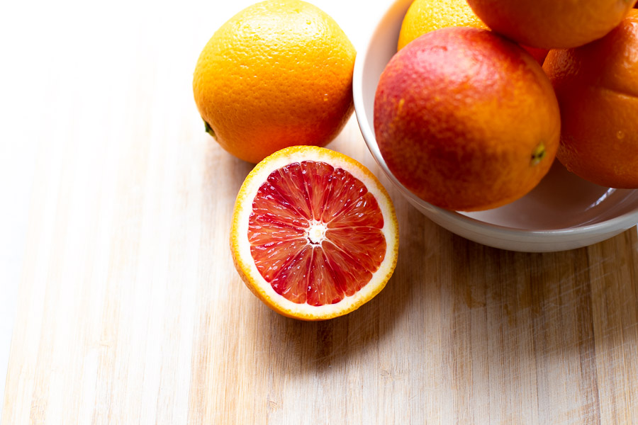 Blood Oranges in a Bowl