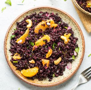 Black Rice Salad with Oranges and Cashews Recipe