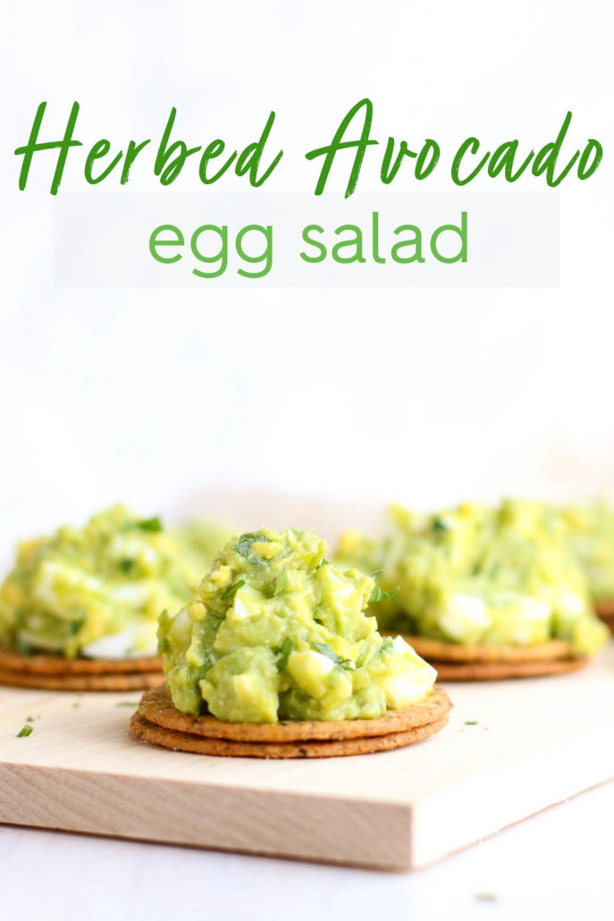 Herbed Avocado Egg Salad on Crackers