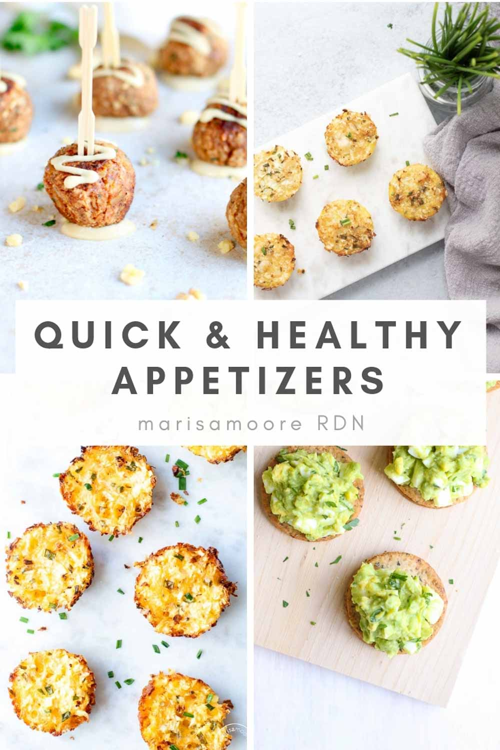 Quick & Healthy Appetizer Recipes Collage