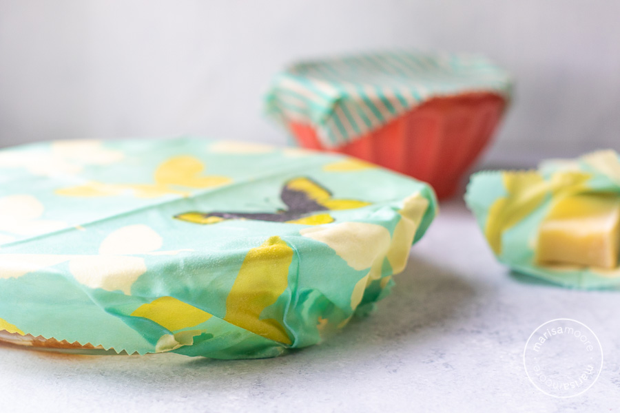 bowls covered in beeswax wraps
