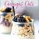Blackberry Walnut Overnight Oats in jars