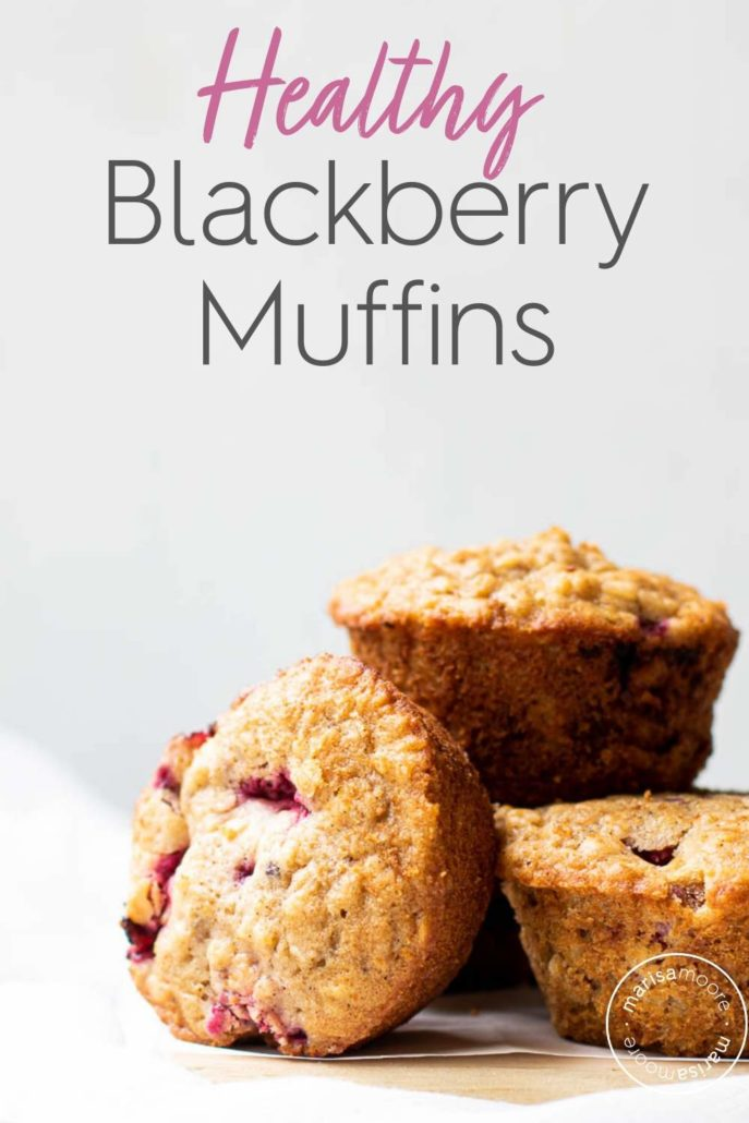 Blackberry Muffins on a white background