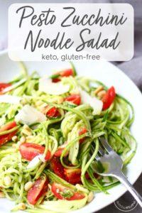Pesto Zucchini Noodle Salad Recipe