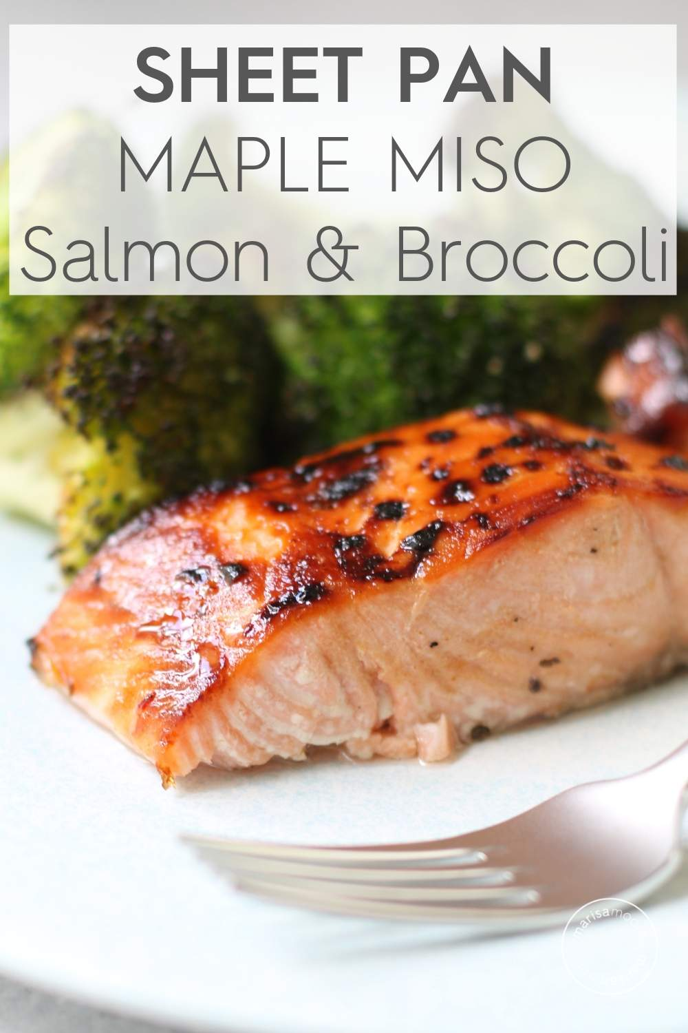 aple Miso Salmon and Broccoli on plate