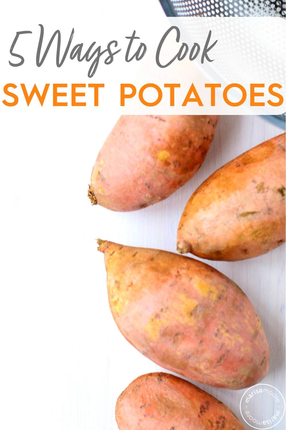 whole sweet potatoes on white background