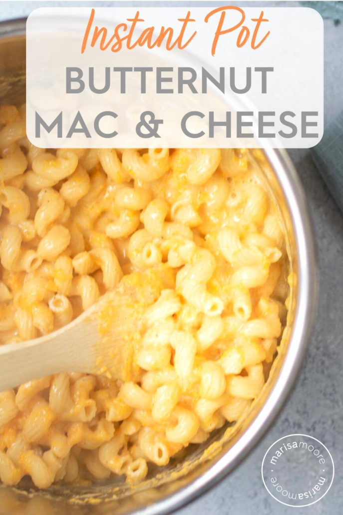 Instant Pot Butternut Mac Cheese in the pot