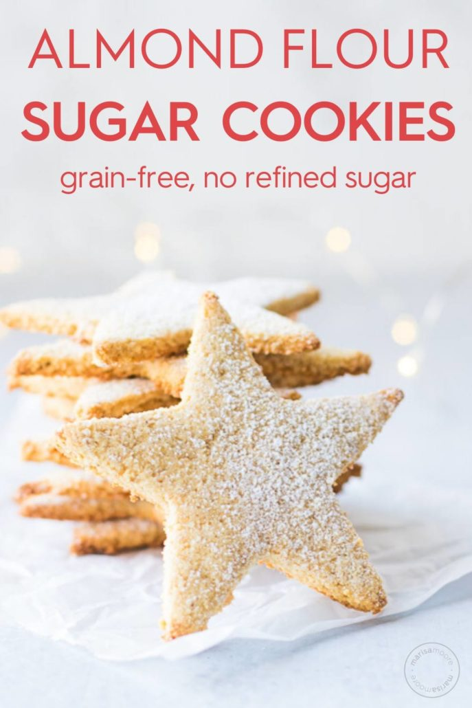 Almond Flour Sugar Cookies pin