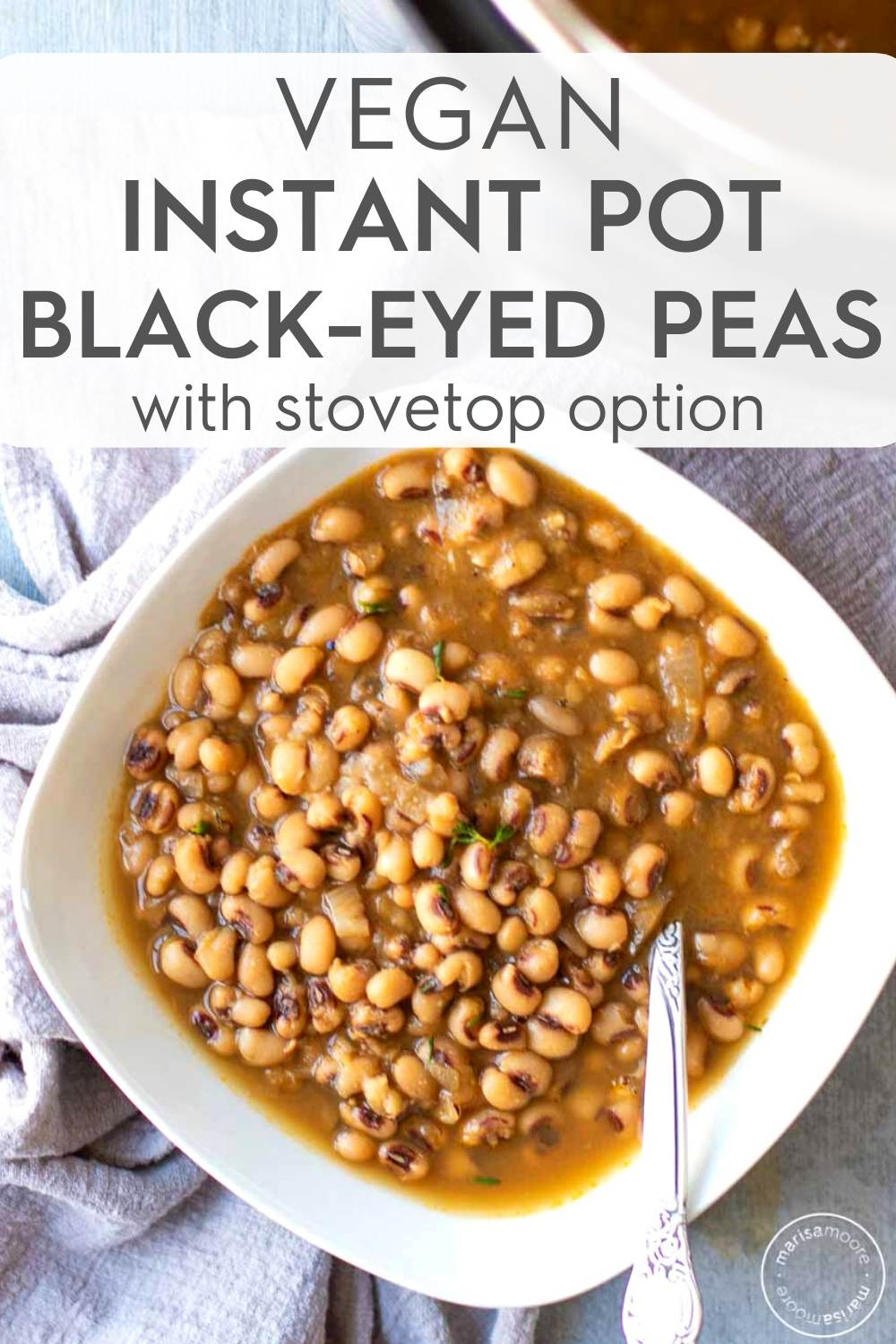 Instant Pot Black Eyed Peas in bowl