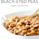 Instant Pot Black Eyed Peas in white bowl