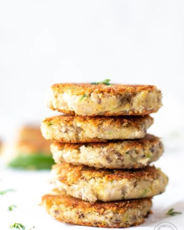 black-eyed pea fritters stacked
