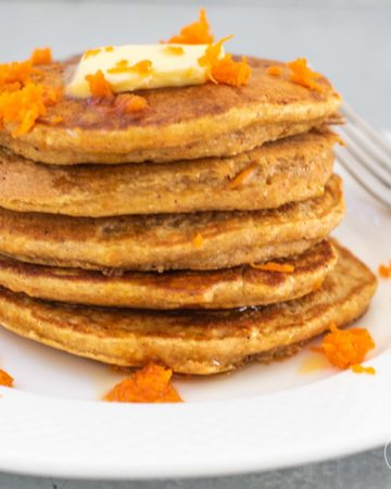 stack of carrot cake oatmeal