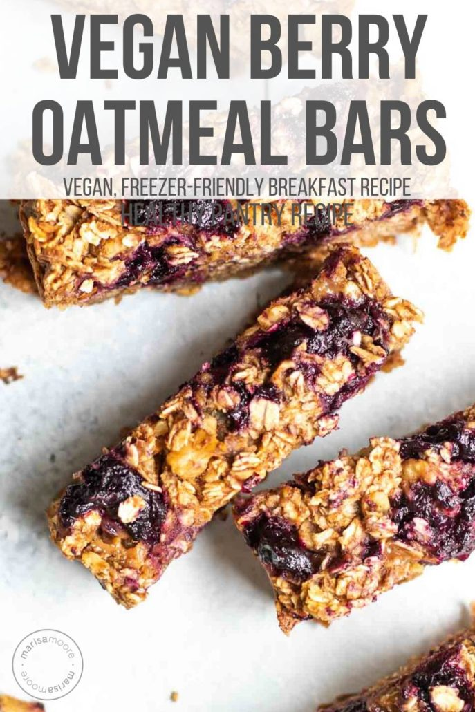 Vegan Berry Oatmeal Bars