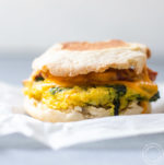 Spinach and Egg Sandwich on parchment